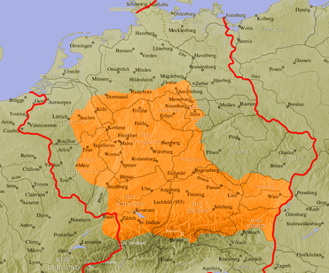 Map Of Old Germany.Old High German